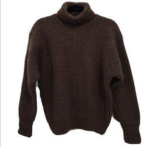 J. PETERMAN wool chunky ribbed sweater HA
